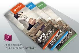 tri fold school brochure template indesign brochure template school brochure templates creative market