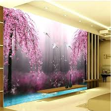 bedroom wall art paintings romantic purple peach crane lake wall art background photography bedroom mural wall wallpaper custom painting room wall painting
