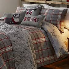 ludlow check red quilt cover sets