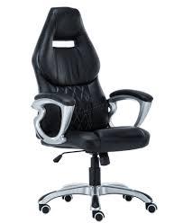 sentinel foxhunter computer executive office desk chair pu leather swivel oc03 black new