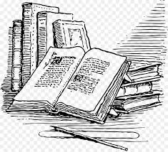 book ilration drawing clip art old book