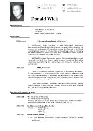 Resume Format Samples Housekeeping Resume Example Cv Format Template ...