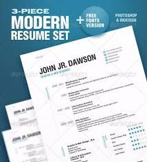 3-Piece Modern Resume Set