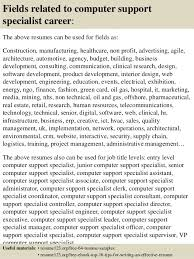 Pc Support Specialist Top 8 Computer Support Specialist Resume Samples