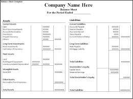 Financial Balance Sheet Template Financial Statement Template Balance Sheet Format Balance