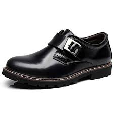 Jamron Mens <b>Genuine Leather Round</b> Toe Business Casual Style ...