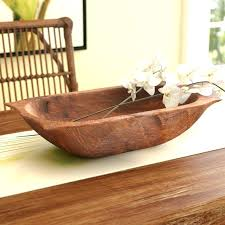 wooden dough bowl painted rustic bowls batea extra long natural antique hand carved wood trough woode