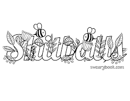 Shitballs Swear Words Coloring Page From