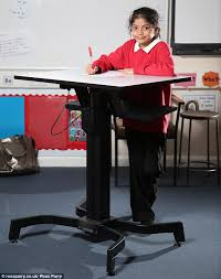 standing desk for school. Unique Desk Pilot Aleefa Ten Is One Of The Pupils At Grove House Primary School On Standing Desk For