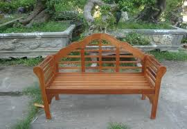 garden bench 2 seater wooden acacia patio furniture seating area curved back