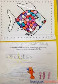 free rainbow fish coloring and writing activity perfect for a kindergarten or 1st grade ocean s unit
