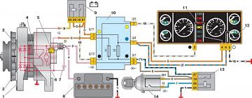 Контрольная лампа зарядки аккумулятора бортжурнал Лада  Включение генератора Г 222