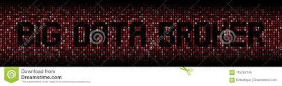 Data Broker Big Data Broker Text On Red Hex Illustration Stock Illustration
