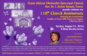 grant ame church congressw maxine waters to speak at the church anniversary 2016 flyer2