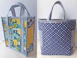 Tote Bag Sewing Pattern Fascinating Sew This Reversible Quilted Tote Bag With Six Pockets And Key Hook