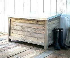 outdoor shoe storage box wooden garden chest large at spruce wood and zinc s outside storage box for shoes