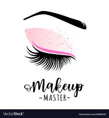 makeup master logo vector image