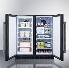 compact side by side refrigerator.  Side Side View Summit FFRF3070B  Open InUse  For Compact By Refrigerator AJ Madison