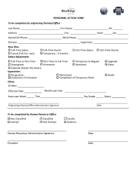 Editable Personnel Action Form Template Word Free - Fillable ...