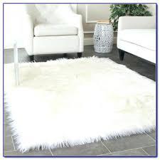 small sheepskin rug grey gray faux fur area regarding rugs prepare 14