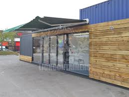 container office building. Site Office Example | University Travel Hub Container Building
