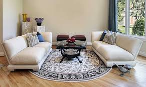 how to use round rugs for maximum effect