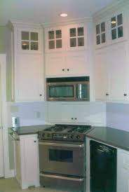 Kitchen Upper Corner Cabinet Stove In The Corner Glass Upper Cabinets Home Ideas