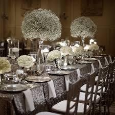 wedding theme silver. winter wedding sparkle blog zest floral and event design 50th