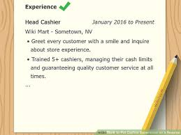 experience as a cashier how to put cashier experience on a resume 10 steps