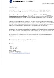 99fc5829 Non Broadcast Transmitter Cover Letter Cover Letter For