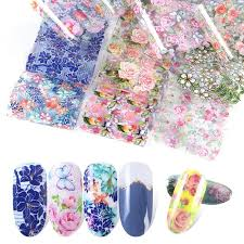 <b>10pcs</b>/<b>pack Nail Stars Applique</b> Retro Pop Floral Nail Stars Transfer ...