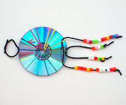 Diy Dream Catchers For Kids Make A Woven CD Dream Catcher Pink Stripey Socks 28
