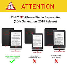 Fintie <b>Slimshell</b> Case for All-New Kindle Paperwhite (10th ...