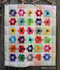A pretty little finish…   WOMBAT QUILTS & hexagon baby quilt Adamdwight.com