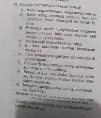 Pelajaran matematika awal selama 1,5 jam. Jawaban Nomor 43 Dalam Detik Detik Soal Try Out 2 Usbn Sd Mi Bahasa Indonesia 2018 2019 Adalah Brainly Co Id