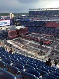 Gillette Stadium One Direction Seating Chart Gillette Stadium Section 306 Row 15 One Direction Tour