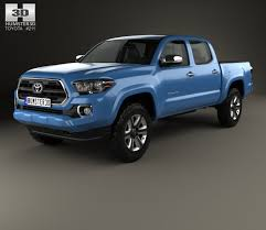 Toyota Tacoma Double Cab Short Bed 2014 3D model - Hum3D