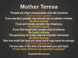 Mother Teresa Quotes Life Custom Mother Teresa Quotes Inspiration Boost