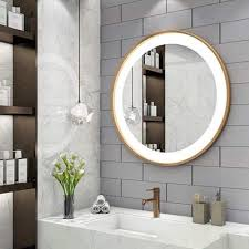 bathroom vanity mirror circle wall