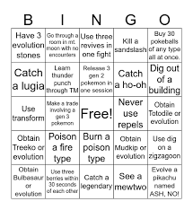 pokemon fire red reandomized bingo