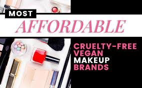 list of 9 affordable vegan friendly makeup brands