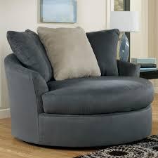 mindy indigo round swivel chair by signature design by ashley