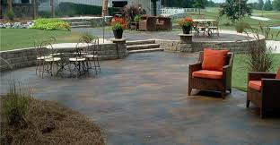 Wonderful Stained Concrete Patio Backyard Design Plan Stained