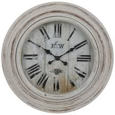 distressed white wall clock hobby