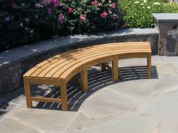 curved backless bench fsc certified