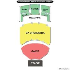 Fillmore Theater Miami Seating Chart Jackie Gleason Theater Seating Chart Travel Guide
