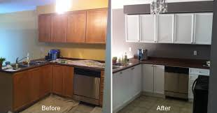 modern design refinishing kitchen cabinets before and after painting refurbish old pertaining custom cabinet refacing wood