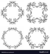 black filigree vector fl decorative filigree frames black ornaments vector