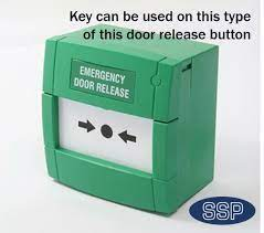 emergency exit break glass reset key