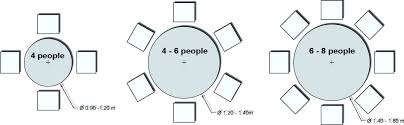 6 person round table inch round dining